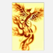 Yellow Phoenix of the old Postcards (Package of 8)