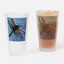 Starry Starry Dragonfly Drinking Glass