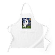 Starry-White German Shepherd Apron