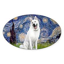 Starry-White German Shepherd Decal