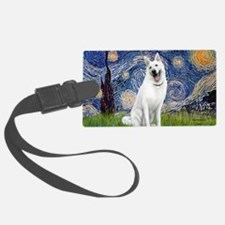 Starry-White German Shepherd Luggage Tag