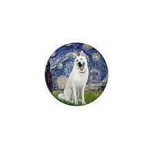 Starry-White German Shepherd Mini Button