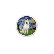 white german shepherd Mini Button