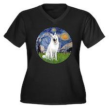white german Women's Plus Size Dark V-Neck T-Shirt