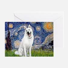 white german shepherd Greeting Card