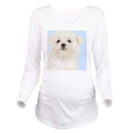 Maltese Long Sleeve Maternity T-Shirt