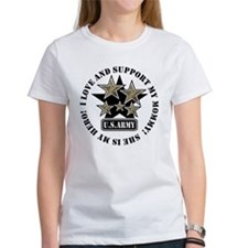 Kids Army Love Support Mommy Tee