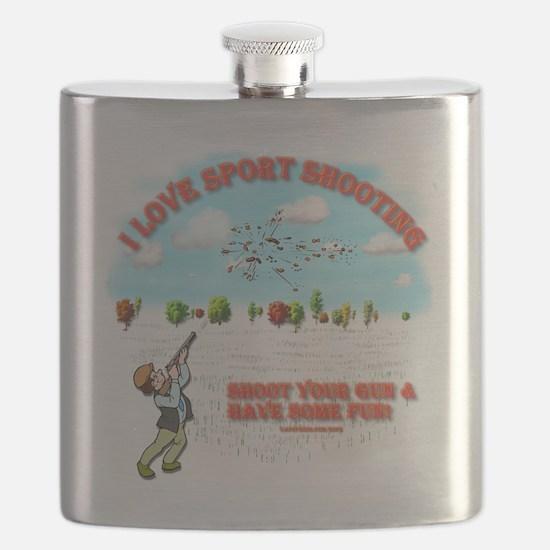 I Love Sport Shooting Flask