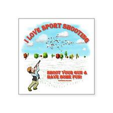 "I Love Sport Shooting Square Sticker 3"" x 3"""