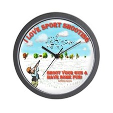 I Love Sport Shooting Wall Clock