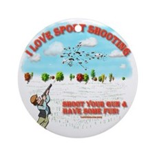 I Love Sport Shooting Round Ornament