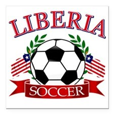 "LIBERIA Square Car Magnet 3"" x 3"""