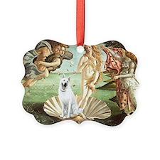 Venus-H-White German Shepherd N2 Picture Ornament
