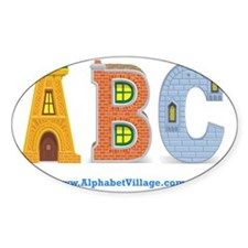 ABC Alphabet Village Decal