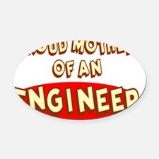 Proud Mother of an Engineer Oval Car Magnet