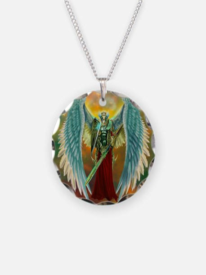 Archangel Michael Necklace Circle Charm