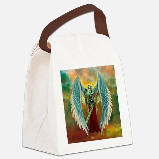 Archangel Michael Canvas Lunch Bag