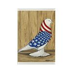 Patriotic West Rectangle Magnet (100 pack)