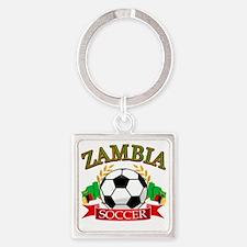 zambia Square Keychain