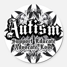 Unique Autism Round Car Magnet