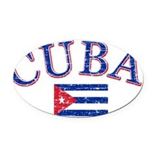 Cuban soccer designs Oval Car Magnet