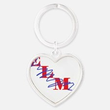 resized elmo crossed out Heart Keychain