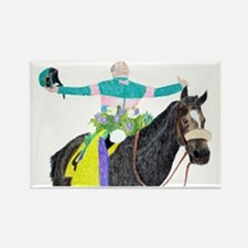 Mike Smith and Zenyatta Rectangle Magnet