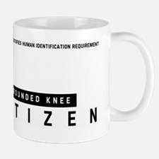 Wounded Knee Citizen Barcode, Mug