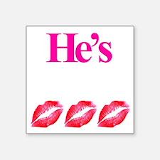 """Hes Mine Square Sticker 3"""" x 3"""""""