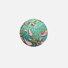 Swimming with Pink Dolphins Throw Pill Mini Button