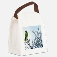 Red Crested Parrot Canvas Lunch Bag