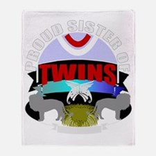 Sister of twins Throw Blanket