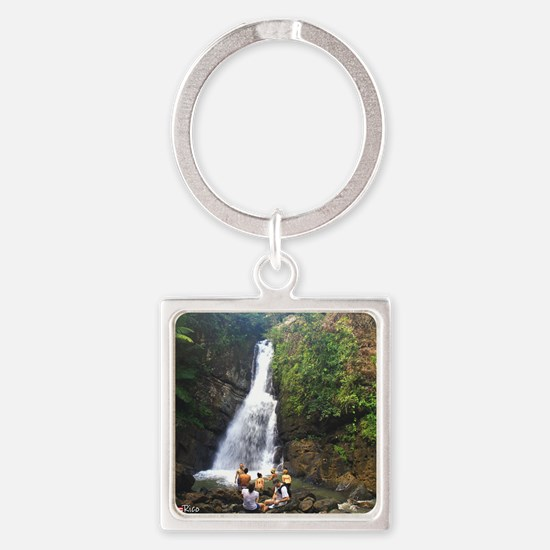 La Mina Falls, El Yunque National  Square Keychain