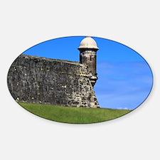 Garita del Castillo de San Cristoba Sticker (Oval)