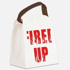Fired Up Canvas Lunch Bag