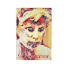 Zombie Princess Rectangle Magnet