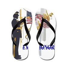 My Memorial Day Soldier-Trans Flip Flops