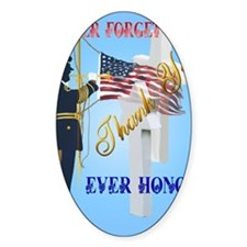 Greeting Card Never Forget-Ever Hon Decal