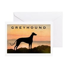 Greyhound Sunset Greeting Cards (Pk of 10)
