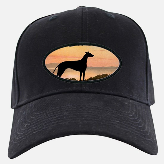 Greyhound Sunset Baseball Hat