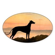 Greyhound Sunset Oval Decal