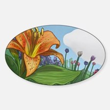 Tiger Lily Sticker (Oval)