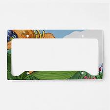 Tiger Lily License Plate Holder