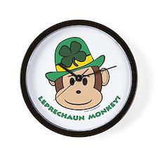 Leprechaun Monkey Wall Clock