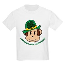 Leprechaun Monkey Kids T-Shirt