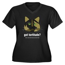 Tortitude Women's Plus Size Dark V-Neck T-Shirt