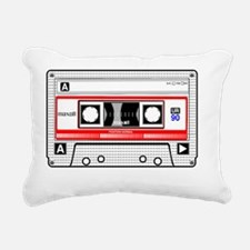 Cassette White Rectangular Canvas Pillow