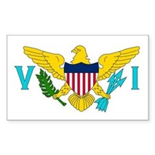 The US Virgin Islands flag Rectangle Decal