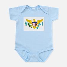 The US Virgin Islands flag Infant Bodysuit