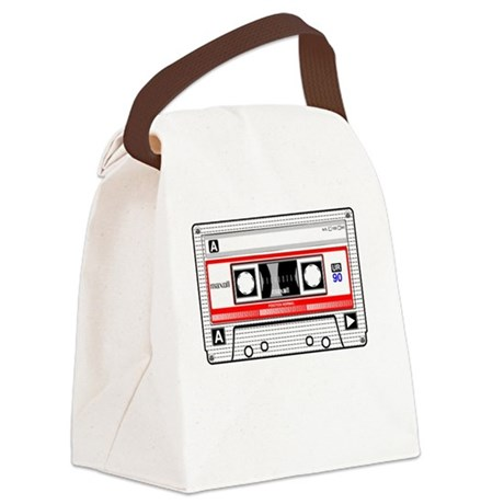 Never Forget Cassette Canvas Lunch Bag